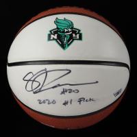 "Sabrina Ionescu Signed Liberty NBA Game Ball Series Logo Basketball Inscribed ""2020 #1 Pick"" (Fanatics Hologram) (See Description) at PristineAuction.com"