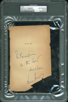 """John F. Kennedy Signed 4x6.25 Cut Inscribed """"With Best Wishes"""" (PSA Encapsulated) at PristineAuction.com"""