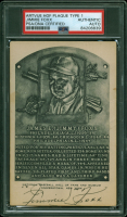 """Jimmie Foxx Twice-Signed Hall of Fame Plaque Postcard Inscribed """"Nice to Say Hello"""" (PSA Encapsulated) at PristineAuction.com"""