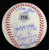 "Reds LE ""Big Red Machine"" OML Baseball Signed by (4) with Joe Morgan, Pete Rose, Johnny Bench & Tony Perez (JSA COA & USA SM Hologram) at PristineAuction.com"