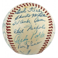 1954 Braves ONL Baseball Team-Signed by (24) with Andy Pafko, Bucky Walters, Hank Aaron, Eddie Mathews (PSA LOA & JSA LOA) at PristineAuction.com