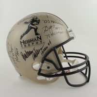 Heisman Trophy Logo Full-Size Helmet Signed by (7) with Steve Owens, Mike Rozier, Johnny Rodgers, Eric Crouch, Jason White (Beckett LOA) at PristineAuction.com