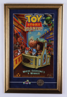 Disneyland Toy Story Mania! 16x24 Custom Framed Print Display with Ride Pin & 2001 Original California Adventure Opening Day Coin at PristineAuction.com