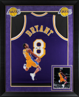 Kobe Bryant Signed 37x45 Custom Framed Jersey Display with Custom Printed Photo (PSA COA) at PristineAuction.com