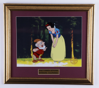 """Walt Disney's """"Snow White & the Seven Dwarfs"""" 16x18 Custom Framed 2-Piece Animation Serigraph Cel Display with Official Disney Seal at PristineAuction.com"""