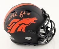 Noah Fant Signed Broncos Eclipse Alternate Speed Mini Helmet (Beckett COA) at PristineAuction.com