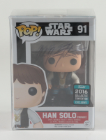 "Alan Dean Foster Signed ""Star Wars"" #91 Han Solo Pop! Vinyl Figure (JSA COA) at PristineAuction.com"