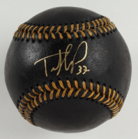 Teoscar Hernandez Signed OML Black Leather Baseball (USA SM COA) at PristineAuction.com
