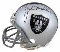 John Madden Signed Raiders Mini Helmet (PSA Hologram) at PristineAuction.com