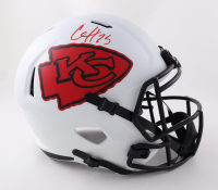Clyde Edwards-Helaire Signed Chiefs Full-Size Lunar Eclipse Alternate Speed Helmet (Beckett Hologram) at PristineAuction.com