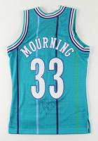 Alonzo Mourning Signed Hornets Jersey (Schwartz COA) at PristineAuction.com