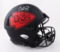 Clyde Edwards-Helaire Signed Chiefs Full-Size Eclipse Alternate Speed Helmet (Beckett Hologram) at PristineAuction.com