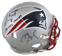 """Tom Brady & Sony Michel Signed Patriots Full-Size Authentic On-Field Speed Helmet Inscribed """"SB LIII Champs"""" (TriStar Hologram & Beckett COA) at PristineAuction.com"""