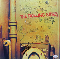 """Keith Richards Signed """"The Rolling Stones"""" Vinyl Record Album Cover (PSA LOA) at PristineAuction.com"""