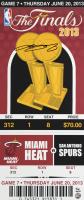 LeBron James Signed LE 14x33 2013 Finals Mega Ticket Canvas (UDA COA) at PristineAuction.com