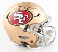 Joe Montana & Jerry Rice Signed 49ers Full-Size Authentic On-Field SpeedFlex Helmet (Schwartz Sports COA) at PristineAuction.com