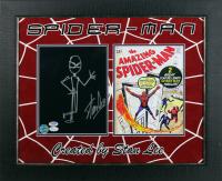 Stan Lee Signed 19.5x23.5 Custom Framed Comic Book Display (PSA LOA & JSA Hologram) at PristineAuction.com