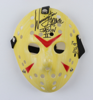 """Warrington Gillette Signed """"Friday the 13th"""" Mask Inscribed """"Jason II"""" & """"First Jason To Kill"""" (Legends COA) at PristineAuction.com"""