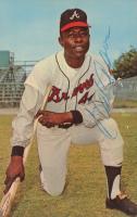 Hank Aaron Signed 3.5x5.5 Braves 1968 Dexter Press Original Card (JSA COA) at PristineAuction.com