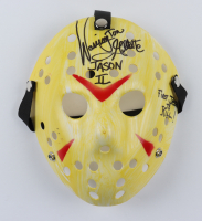 """Warrington Gillette Signed """"Friday the 13th"""" Mask Inscribed """"Jason II"""" & """"First Jason To Kill!"""" (Legends COA) (See Description) at PristineAuction.com"""