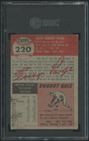 Satchel Paige 1953 Topps #220 (SGC 3) at PristineAuction.com