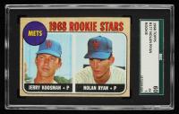 Jerry Koosman / Nolan Ryan 1968 Topps #177 Rookie Stars RC (SGC 5) at PristineAuction.com