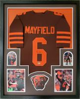 Baker Mayfield Signed 34x42 Custom Framed Jersey Display (Beckett Hologram) at PristineAuction.com