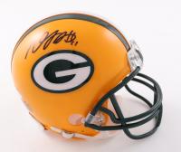 Davante Adams Signed Packers Mini Helmet (Beckett COA) at PristineAuction.com
