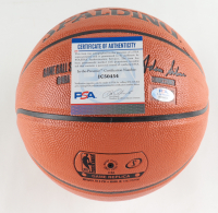 "Bill Walton Signed Trail Blazers Logo NBA Game Ball Series Basketball Inscribed ""'77 Champs"" & HOF 93"" (PSA COA) at PristineAuction.com"
