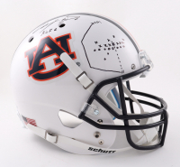 """Chris Davis Signed Auburn Tigers Full-Size Helmet Inscribed """"Kick 6"""" with Hand-Drawn Play (Sports Collectibles COA) at PristineAuction.com"""