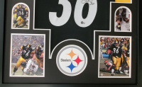 Jerome Bettis Signed 34x42 Custom Framed Jersey Display (Beckett Hologram) at PristineAuction.com