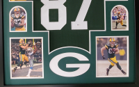 Jordy Nelson Signed 34x42 Custom Framed Jersey Display (Beckett COA) at PristineAuction.com