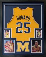 Juwan Howard Signed 34x42 Custom Framed Jersey Display (Beckett Hologram) at PristineAuction.com