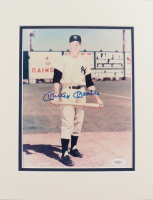 Mickey Mantle Signed Yankees 11x14 Custom Matted Photo Display (JSA Hologram) at PristineAuction.com