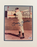 """Mickey Mantle Signed Yankees 11x14 Custom Matted Photo Display Inscribed """"NO. 6"""" (PSA Hologram) at PristineAuction.com"""