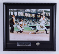 """George Herman """"Babe"""" Ruth 16x17 Custom Framed Print Display with Old Yankee Stadium Pin at PristineAuction.com"""