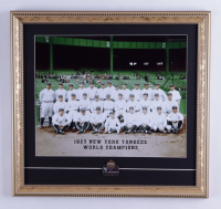 1927 Yankees 16x17 Custom Framed Print Display with an Official 1927 World Series Champions Pin at PristineAuction.com