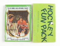 1973-74 Topps Hockey Card Fun Pack with (10) Cards at PristineAuction.com