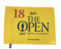 "Collin Morikawa Signed 149th The Open Flag Inscribed ""2021 Open Champion"" (JSA COA) at PristineAuction.com"