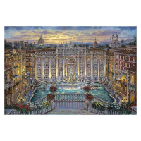 """Robert Finale Signed """"Trevi Fountain"""" Artist Embellished Limited Edition 18x27 Giclee on Canvas at PristineAuction.com"""