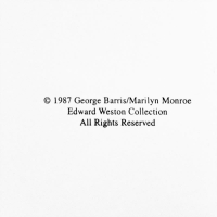 """George Barris Signed """"Marilyn Monroe: The Last Shoot"""" 11x14 Photograph Printed from the Original Negative, Inverso 84/99 at PristineAuction.com"""