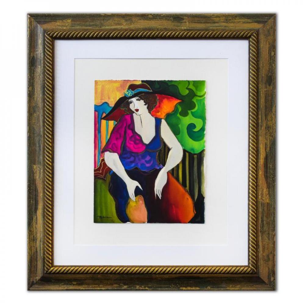 "Patricia Govezensky Signed ""Gonny"" 29x25 Custom Framed Original Watercolor at PristineAuction.com"
