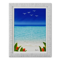 "Dan Mackin Signed ""Bird's Eye View"" 23x30 Custom Framed Original Oil Painting on Canvas at PristineAuction.com"