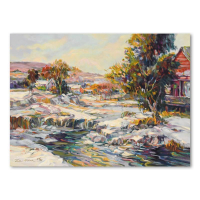 """Henri Plisson Signed """"The Thaw"""" Limited Edition 24x18 Giclee on Canvas #24/95 at PristineAuction.com"""
