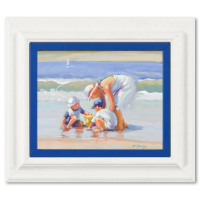 """Lucelle Raad Signed """"Mama's Boys"""" 15x13 Custom Framed Original Acrylic Painting on Canvas at PristineAuction.com"""