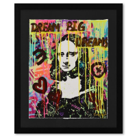 """Nastya Rovenskaya Signed """"The Colours of Mona Lisa"""" is the Answer"""" 21x27 Custom Framed One-of-a-Kind Mixed Media at PristineAuction.com"""