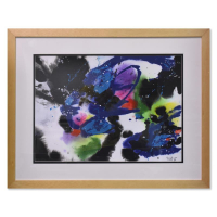 Jenik Cook Signed 31x25 Custom Framed Original Acrylic Painting at PristineAuction.com