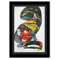 Jenik Cook Signed 40x28 Custom Framed Original Acrylic Painting at PristineAuction.com