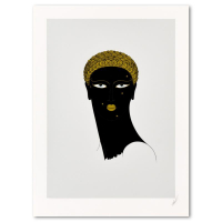 """Erte Signed """"Queen of Sheba"""" Limited Edition 22x30 Serigraph from an AP Edition at PristineAuction.com"""