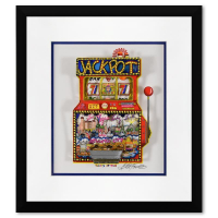 """Charles Fazzino Signed """"Slots of Fun"""" 3D Limited Edition 16x17 Custom Framed Silk Screen, DX #253/500 at PristineAuction.com"""